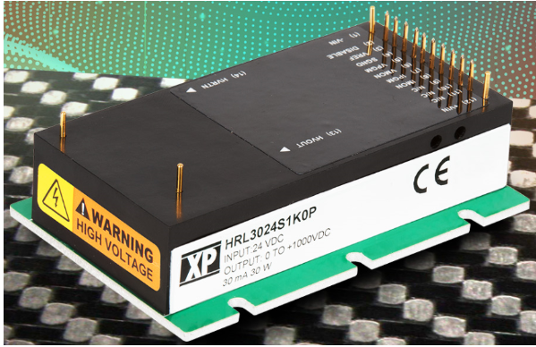 XP Power high voltage DC-DC power module for scientific research and semiconductor applications