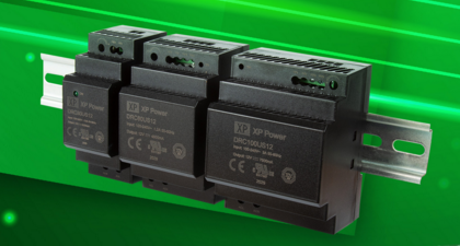 XP PowerDIN rail installation AC-DC power supply